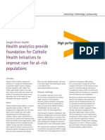 Accenture Health Analytics Provide Foundation for Catholic Health Initiatives Improve Care for at Risk Populations