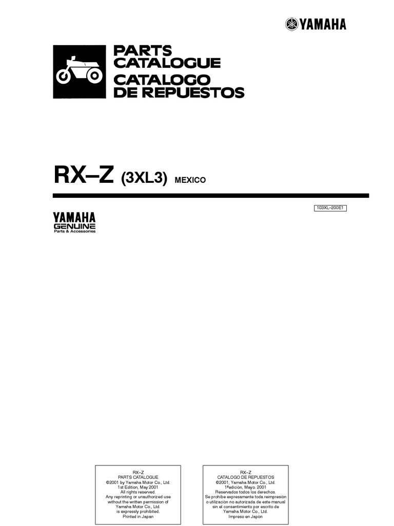 yamaha rx z 6 speed owner manual rh scribd com Gambar Yamaha RXZ Boss Yamaha RXZ Catalyzer