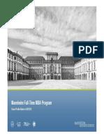 Mannheim Full-Time MBA Class Profile_2012-13