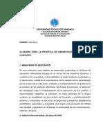 GLOSARIO PARA LA PRÁCTICA DE OBSERVACIÓN Y ANÁLISIS DE CONTEXTO (1)