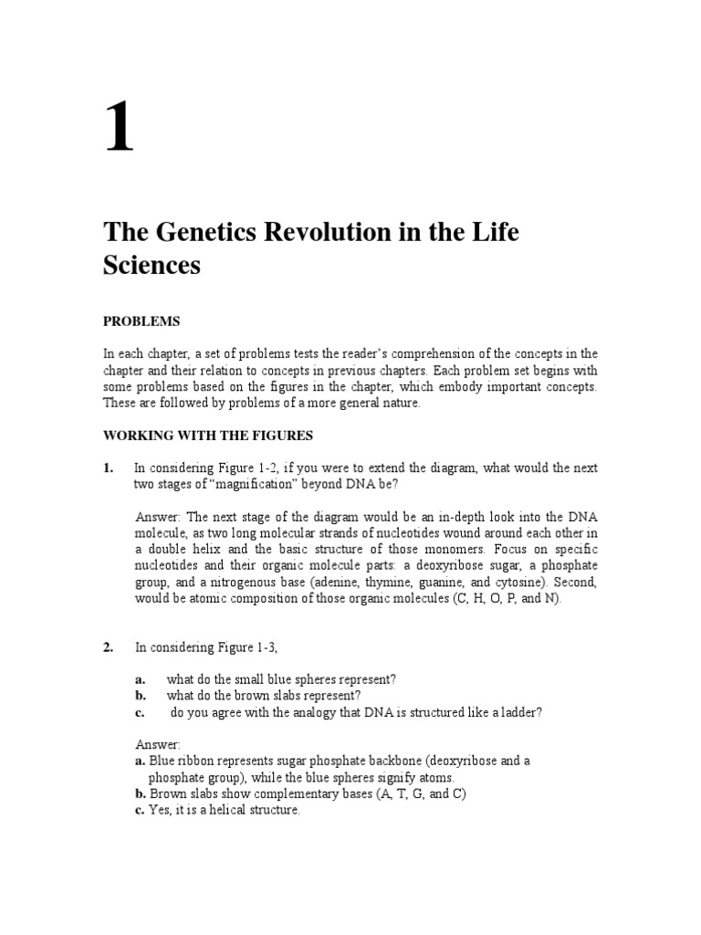 Introduction to Genetic Analysis 10e Griffiths - Solutions Manual | Genetics  | Dna