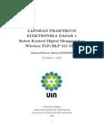 laporan modul 10 Robot Kontrol Digital Menggunakan Wireless TLP/RLP 315 MHZ