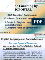 Online Coaching SSC CGL Tier 1 English Language Parts Speech Part 2