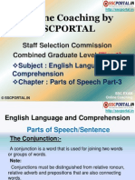Online Coaching SSC CGL Tier 1 English Language Parts Speech Part 3