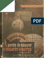 Aparate de Masurat Si Masurari Electrice Uzuale