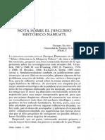 Notas Sobre Discurso Historico Nahuatl
