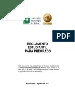 Reglamento Estudiantil Para Pregrado - Ago 2011