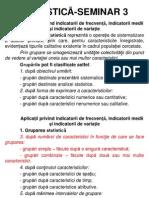 Statistica - Seminar