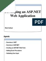Developing an Aspnet Web Application 28129