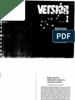 32930262 Roger Bartra Identidad Cultural y Ciencias Sociales