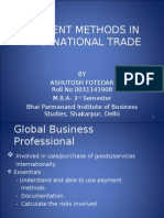 Payment Methods in International Trade