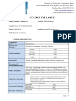 Organic Chemistry 2- Syllabus_USTH