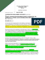 Admin Law. Cooperative Development Authority v. Delfin Agrarian Beneficiari