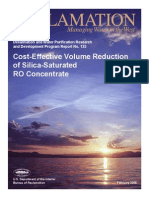 Report125 Cost Effective Volume Reduction - Silica Saturated RO Concentrates