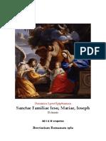 Visperas gregorianas FIESTA DE LA SAGRADA FAMILIA. FORMA EXTRAORDINARIA DEL RITO ROMANO