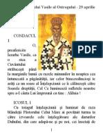 Acatistul Sf. Vasile Al Ostrogului