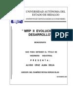 MRP II Evolucion y Desarrollo