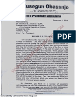 Olusegun Obasanjo's Letter to Mr President - Obj-letter