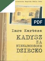 Kertesz, Imre - Kadysz Za Nienarodzone Dziecko