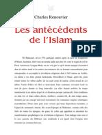 Charles Renouvier = Les antécédents de l'Islam