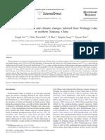 Liu XQ 2008 Holocene Environmental and Climatic Changes Inferred From Wulungu Lake in Northern Xinjiang, China