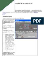 A Basic Tutorial of Blender 3D