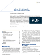 Indications Et Traitements de l Orthodontie de l Adulte