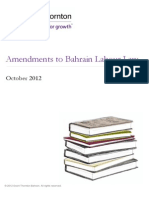 Amendments to Bahrain Labour Law