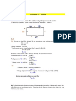 Circuit Theory Solved Assignments - Semester Fall 2008