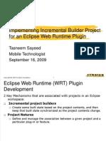 Eclipse WRT Plugin Dev