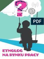 Etnolog Na Rynku Pracy 2013