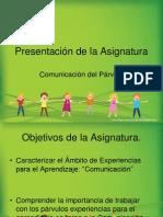 Presentación de la Asignatura COMUNICACION