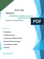 Certification de travaille et reçus pour solde de tous comptes.pptx