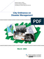 City Ordinance on Disaster Risk Management