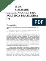 Raízes da desigualdade social na cultura política brasileira - Teresa Sales (1)