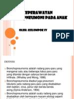 Asuhan Keperawatan Bronko Pneumoni Pada Anak