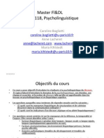Introduction a La Psycholinguistique