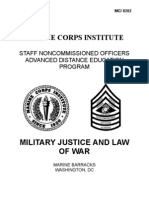 Military Justice and the Law of War