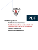 CSCT Exam Handguide for Members English June2010