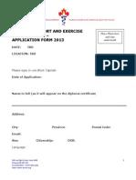 Application Form Standard