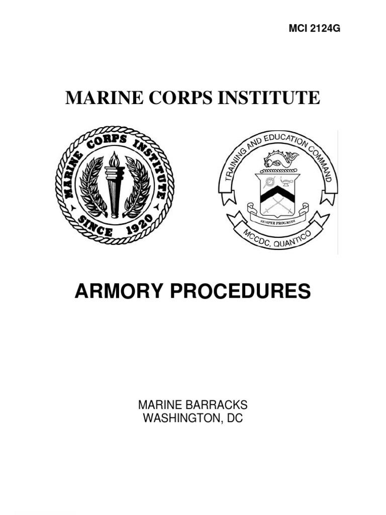 Armory Procedures | Staff (Military) | United States Marine Corps