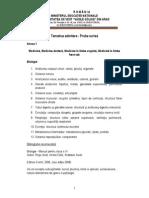 Tematica Si Bibliografia Admitere Medicina