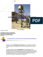 Clase10a_2013_I Clasificaci+-ªn de metodos minado subterr