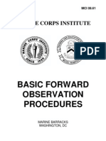Basic Forward Observation Procedures