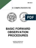 Basic Forward Observation Procedures