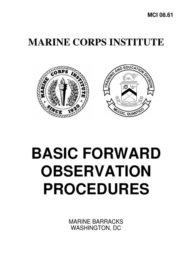 Marine Corps Institute: Basic Forward Observation Procedures