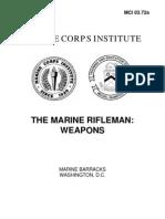 Marine Rifleman Weapons