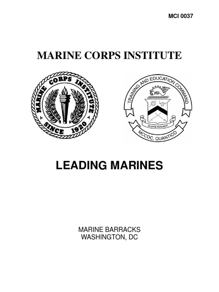 leading marines value ethics leadership mentoring rh scribd com Math Study Guide Sat Study Guide