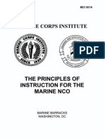 Principles of Instruction for the Marine NCO