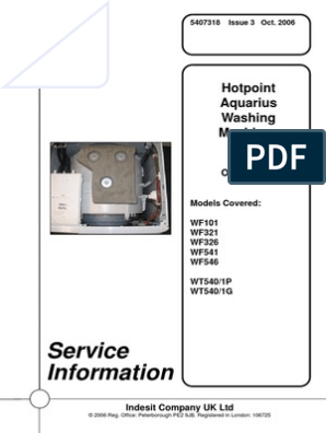 Information Service: Hotpoint Aquarius Washing Machines